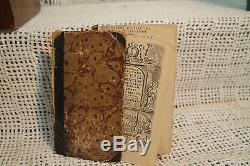 Rare antique old book 1694 Catholic church Pope engravings Latin Christianity