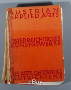Rare book Austrian Applied Arts Kunstgewerbe Josef Hoffmann Weiner Werkstatte