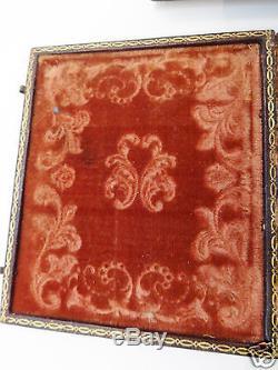 Rare circa 1800 Victorian Travel Picture Frame Book