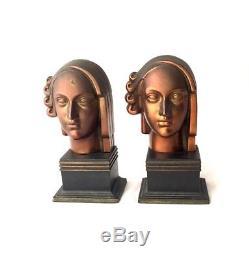 Ronson Bookends Athena Goddess Art Deco 1920's Decor Sculptures Book Ends Rare