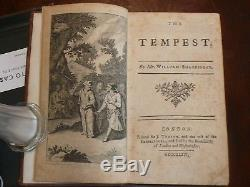 Shakespeare Rowe Tonson Antique 1st/1st Edition 1735 Vol I rare original covers