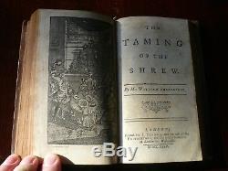 Shakespeare Rowe Tonson very rare original covers 1st/1st Vol II 1735 Antique