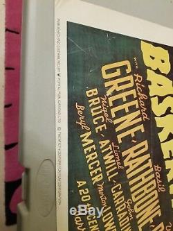 Sherlock Holmes Doyles Film Movie Poster The Hounds of Baskervilles Vintage RARE