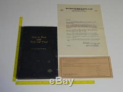 Stanley Antique Book How to Work With Tools & Wood 1st Edition + Rare EPHEMERA