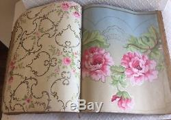 Stunning RARE Antique Wallpaper 1903 Sample Book Archive Upcycle Bandbox Chicago