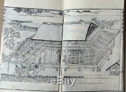Sup RARE! Original Japanese Woodblock Print Book Set Samurai & Buddhism c1800 #2
