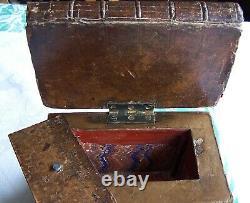 Super Rare English C19th Century Book Stack Trompe L'oiel For Hiding Valuables
