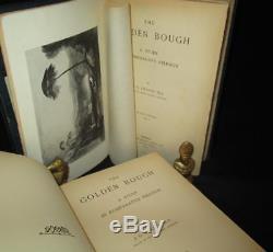 THE GOLDEN BOUGH Frazer EX RARE 1st Edition 2V SET 1890 Antique MYTHOLOGY Books