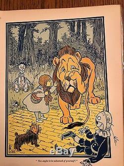 THE ORIGINAL WONDERFUL WIZARD OF Oz Color Plates Present! RARE! 1st Edition