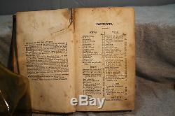 THE VIRGINIA HOUSEWIFE rare antique old leather cookbook 1839 Mary Randolph