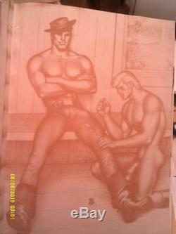 TOM OF FINLAND ALBUM Rare 1974 Barrington vtg Muscle Beefcake nude male Gay Art