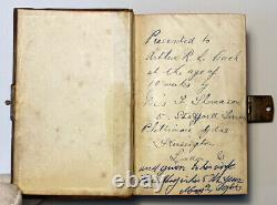 The Book Of Common Prayer, Rare Copper Front And Back Cover, c1855 Antique Small