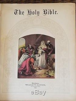 The Holy Bible Vintage Antique Amazing Old Beautiful Historical Rare Original