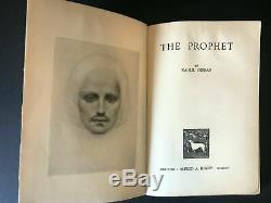 The Prophet, by Kahlil Gibran 1924 Rare 1st Ed, 2nd Prtg, Antique H/C Book