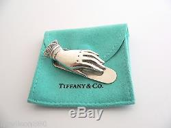 Tiffany & Co Silver Hand Book Mark Money Clip Holder Rare Retro Antique Vintage