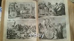 Very Rare 1890's Antique Leather Bible with over 2000 Illustrations