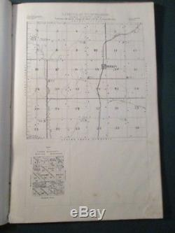 Very Rare 1897 Plat Book and Business Directory Tama County Iowa Atlas Map Book