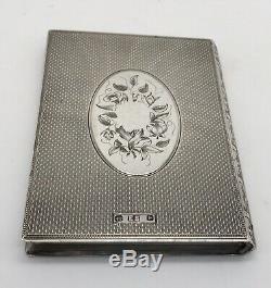 Very Rare Victorian Book Style Card Case Hallmarked Birmingham 1864