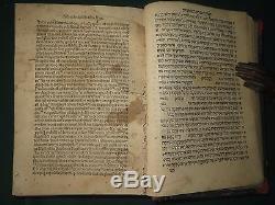 Very antique judaica book Mikneh Avram Venice Bomberg1523 Extremely rare Hebrew