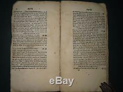 Very antique judaica book Or Amim Bologna 1537 1st Extremely rare Hebrew Seforno