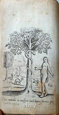 Very rare Emblemata book, 1663 EMBLEMES by Francis QUARLES rIchly illustrated