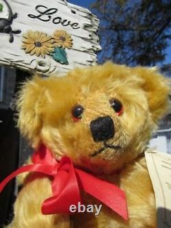 Vintage 12 Mohair Teddy Bear Deans Rag Book Neil Miller Le 3 Rare Tags Uk Cute
