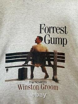 Vintage Forrest Gump movie book Promo size XL single stitch no flaws. Very Rare