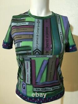 Vintage JPG. Jeans Gaultier Womens T Shirt SMALL Parody of Books Print RARE