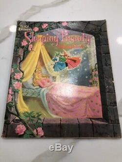Vintage Jumbo Disney Coloring Book Sleeping Beauty 1959 Super Rare Hard To Find