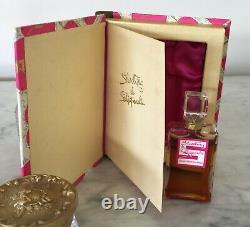 Vintage SHOCKING SCHIAPARELLI Sealed Perfume Bottle Book Box 1/2 Oz 1950's RARE