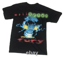 Vtg 1997 Spawn Fury Allover Print Comic Book Tshirt Mens Xl Rap Tee Promo Rare