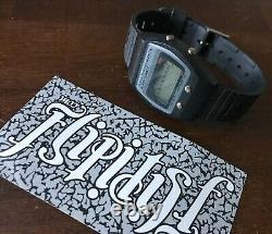 Vtg Texas Instruments Alarm Quartz Digital Watch Black Rare Antique Book Box