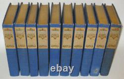 WORKS OF RUDYARD KIPLING! 10 Volumes ANTIQUARIAN Library Gift Antique Old RARE