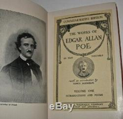 WORKS of EDGAR ALLAN POE! Not leather Set Antique COMPLETE! RARE GIFT Raven(1904)