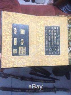 Wonderful Chinese Unusual Rare Antique Ancient Calligraphy Book on Jade Stone